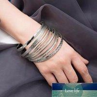 Lacteo 11 Pcs Set Bohemian Multi Element Barcelet Bangle for Women Statement Fashion Round Circle Charm Bracelet