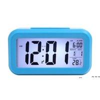 Newsmart 센서 나이트 라이트 온도 온도계 달력 디지털 알람 시계 일정, 자동 책상 테이블 시계 침대 옆 여긴 ewe5747
