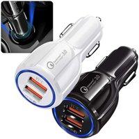 USB 자동차 충전기 어댑터 유니버설 QC 3.0 3.1A 듀얼 포트 아이폰을위한 빠른 충전 자동 소켓 담배 가벼운 Samsung