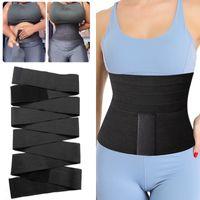 Women's Shapers Waist Trainer Snatch Me Up Bandage Wrap Women Slimming Sheath Tummy Bands Body Shaper Corset Top Trimmer Belt Shapewear