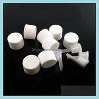 Bottles Jars Housekeeping Organization Home & Garden10 20 50 100Pcs Black White Plastic Screw Er Cap Lid With Drop Sealing Plug For 5 10 15