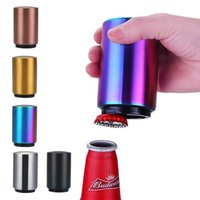 Apritore automatico magnetico Acciaio inossidabile BottleOpener Portatile Magnete Portatile Apertanti di vino Strumenti da bar Magnetische Bier Flesoperener LLS402-WLL