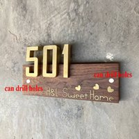 Customized door sign metal house nameplate three-dimensional copperplate combination creative household doorplate customized design number plate hotel