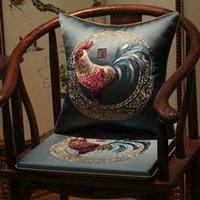 Cuscino / cuscino decorativo cuscino tradizionale stile cinese cazzo ricamo cuscino cuscino gallo antiscivolo blu giallo sedia casa el decorazione