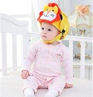 Baby barn spädbarn skyddande bomull huvudskydd mjuk hatt hjälm anti-kollision säkerhets säkerhet sport baby caps