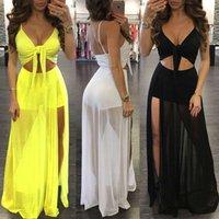 Women Summer Dress Boho Long Maxi Evening Solid Party Beach Es Sundress Sleeveless