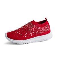 2021 Kadın Ayakkabı Büyük Boyları Rhinestone Çorap Renkler Eşleşen Kalın Tabanlı Yaşlı Çift Ayakkabı Spor Snaker Kadın Eğitmenler Sneakers 35-43