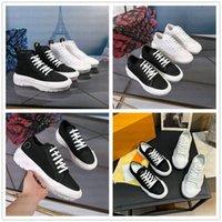 Squad Trainer Low Sneaker Boot Monograms المطاط الوحيد أحذية عارضة عادي الجلود منصة الغروب بغل عالية أعلى مصمم الرجال النسائية أحذية رياضية