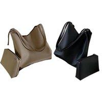 Duffel Bags Casual Messenger Soft PU Leather Shoulder Bag Top-handle Handbags Fashion Large Crossbody Purse 2Pcs Set