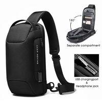 School Bags 2021 Anti-theft Multifunction Crossbody Bag Shoulder Messenger Male Waterproof Short Trip Chest Pack For Men