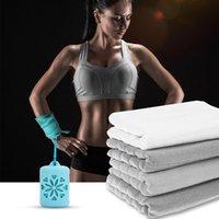 toalha de praia newmicrofiber esportes de refrigeração de toalha de secagem rápida ioga toalha de mão com case de silicone para corrida ao ar livre ciclismo EWF6290