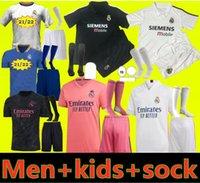 2021 2022 Gerçek Madrid Futbol Jersey Tehlike Ev Uzakta Yetişkin Gömlek Asensio ISCO Marcelo Retro 02 03 Çocuk Kiti Futbol Üniformaları