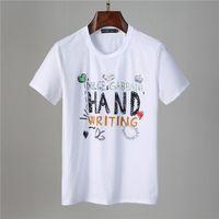 Высокое качество Tee Printing Мужская мода дизайнер печати футболки с короткими рукавами футболки с короткими рукавами соревнований Свободная уличная одежда TEES TOPS MENS рубашки