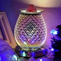 Incense Burner Fish Scales Lamp Aroma Electric Wax Melt Night Light Tart Diffuser Warmer For Home Bedroom Room Fragrance Lamps