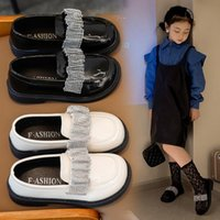 Flat Shoes Children Leather Girls Dress Loafers Baby Toddler Princess Performance Dance Party Kids Flats Casual 03A