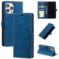 Anti-theft Swipe Wallet Hand Feel Leather Cases For Iphone 13 Pro Max 12 11 XR X XS 8 7 6 Plus Frame Pocket Credit ID Card Slot Stand Holder Business Book Skin Feeling Purse