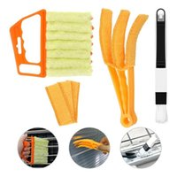 Car Sponge 3-piece Set Hand-held Cleaning Brush For Air Outlet Shutter Tool Dust Collector Blinds Window Conditioner