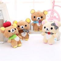 Японские рилаккума медведи чучела животных плюшевые игрушки смешать цвета медведь материал игрушка Kawaii кукол подарки для детей младенца