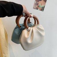 Shoulder Ins Portable New Korean Version Of The Texture 2021 Cross-border Fashion Fold Handbags Bag Cloud Western Style Ring Xwhcu