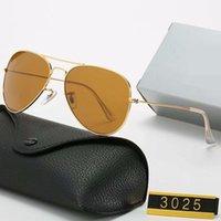3025 تصميم النظارات الشمسية ماركة خمر الطيار نظارات الشمس الاستقطاب uv400 الرجال النساء 58 ملليمتر عدسات الزجاج مع مربع
