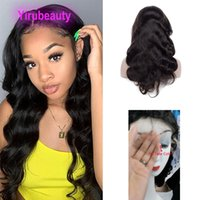 Indian 100% Human Virgin Hair 180% Density HD 13X4 Lace Front Wig Body Wave Yaki Natural Color Adjustable Band Wigs
