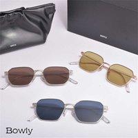 Gafas de sol de moda 2021New Style GM de acero inoxidable de acero inoxidable Mujeres suaves Bowly wo gafas de sol con estuche