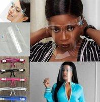 Gesichtsschild Gläser Protector Prävention Full Face Shield Guard Protector wiederverwendbarer Ölspritzer Beweis Gesicht Glas Design Masken LJJK2443