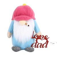 Father's Day Hat Rudolph Plush Faceless Doll Party Gifts Decorations Cartoon Love You Dad Plushed Dwarf Gnome Party Ornament FWA5085