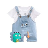 Boys Baby Clothing Sets New Summer Kids Cartoon Dinosaur Cute Outfits Boy Fashion Suits Children Clothes 2PCs 1 4Y 210414
