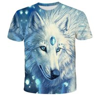 Lovers Wolf Printed T shirts Men 3D T-Shirts Drop Ship Top Tee Short Sleeve Camiseta Round Neck Tshirt Fashion Casual Brand Tk0192