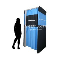 120 * 120 cm Stretch-Lite Cambio portatile Retail Room Forniture al dettaglio con stampa in tessuto di tensione e borsa facile da trasporto