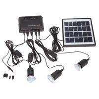 Solar Lamps Outdoor Power Led Lighting Bulb Lamp System Panel Home Kit