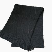 Personalisierte gestrickte Schals klassischer Musterschal Mode Verdickung warme Schal Unisex Winter casual Wollfaden-Tücher