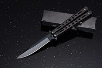 BM C26 Balisong Tactical Folding Knife Free Swinging Camping Hunting Survival Pocket Utility EDC Tools Rescue Self Defense