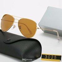 3025 58 cm tasarım güneş gözlüğü lüks ray marka gözlükler pilot vintage yasakları açık tonları polarize cam çerçeve moda klasik bayan güneş gözlükleri aynalar kadınlar için