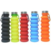 Water Bottles & Cages Folded Silicone Bottle MTB Bike Cup Kettle Outdoor Camping Leak-Proof Folding Tour Gel Kids Retractable Collapsible 55