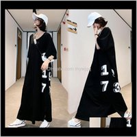 Clothing Supplies Baby, Kids & Drop Delivery 2021 Summer Pregnant Maternity Dresses Pregnancy Women A Word Maxi Letter Printed Dress For Po S