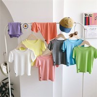 Children T-shirts INS Summer girls cotton Tees boys short sleeve casual tops baby girl all-match clothes A6317