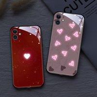 Coque de téléphone mobile d'amour pour iPhone 12 11 PRO XS Max SE 7 8 Plus XR LED 6 Tyons de Couleur de la lumière Couleur Coque antichoc