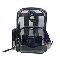 PVC حقيبة ظهر شفافة حقيبة مدرسية للماء