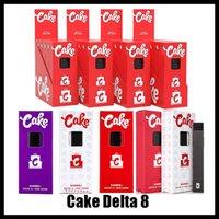 Cake Delta 8 Disposable E cigarettes Device full gram (1ml) Capacity Empty pod Rechargable Vape Pen 280mAh Battery For thick oil