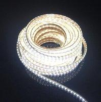 Tiras AC220V LED Tira SMD 3014 À Prova D 'Água Ao Ar Livre Jardim Iluminação Alta Brilho Fita de fita de luz com plugue UE 120leds / m