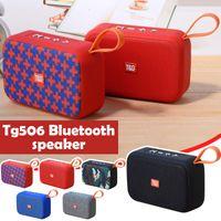 TG506 Mini Bluetooth Speaker Wireless Portable Handhold Loudspeaker Fabric Stereo Small Subwoofer Support TF Card FM Radio 20pcs