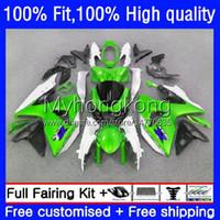 Bodys Injection For SUZUKI GSXR 1000CC 1000 Green black CC K9 09 10 11 12 13 14 16 28No.57 GSX-R1000 GSXR1000 2009 2010 2011 2012 2013 2015 2016 GSXR-1000 09-16 OEM Fairing