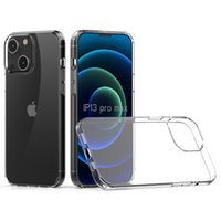 Telefonväskor för iPhone 13 Pro 12 mini 11 xs Max XR 1.5mm Rensa transparenta akryl + TPU-stötdämpande mobilt skydd bakskal D1