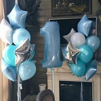 Party Decoration 1set Birthday Balloon Digit 1 Helium Foil Balloons Boy Girl My Years Old Baloon Baby Shower Decorations Supplies