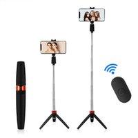 Fashion 3 em 1 sem fio Bluetooth selfie stick para com tripé dobrável suporte de mão monopé yountube tiktok y9 monopés
