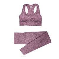 2/3 / 5pcs Outfit Outfit Mujeres Sin Casas de Yoga Establecer Entrenamiento Sportswear Gimnasio Ropa Fitness Manga Larga Cultivo Top Top Alto Cintura Leggings Sports Trajes 10
