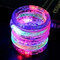 2021Acrylic light armband 1pc flash armband led licht uitzenden elektronische partij kinderspeelgoed kleurrijke lichtgevende gloeiende armband hoge kwaliteit