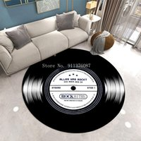 Carpets Personality Vintage Carpet Music Record Design Area Rug Soft 3D Home Decor Round Kid Room Anti-Slip Floor Mat